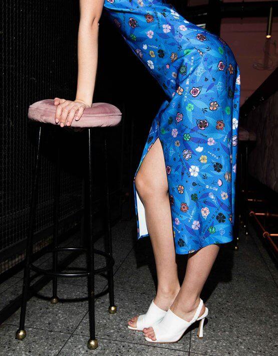 Платье в принт с рюшами SAYYA_SS1015, фото 5 - в интеренет магазине KAPSULA