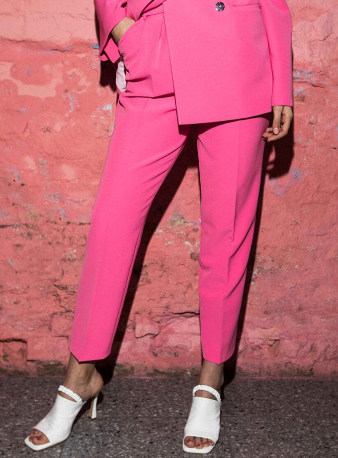 Укороченные брюки на высокой посадке SAYYA_SS1017-1, фото 1 - в интернет магазине KAPSULA