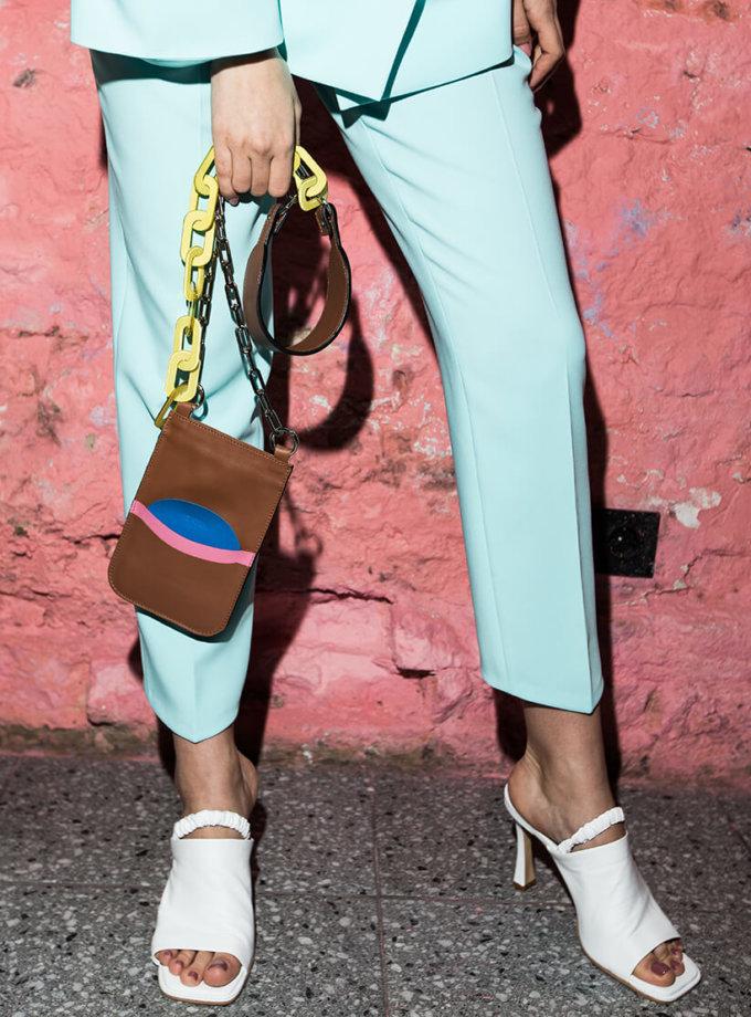 Укороченные брюки на высокой посадке SAYYA_SS1017, фото 1 - в интернет магазине KAPSULA