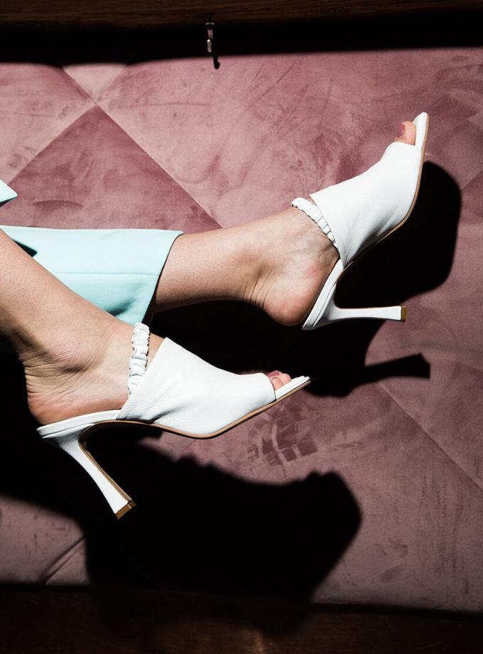 Кожаные мюли на каблуке SAYYA_SS1050-1, фото 1 - в интеренет магазине KAPSULA