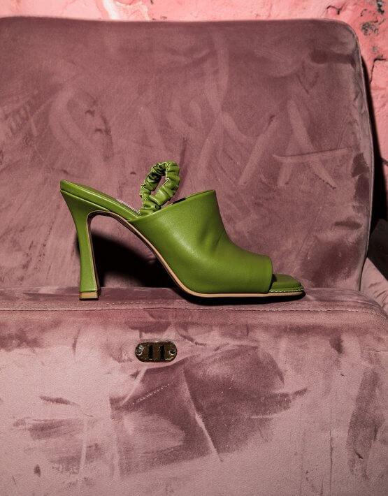 Кожаные мюли на каблуке SAYYA_SS1050, фото 6 - в интеренет магазине KAPSULA