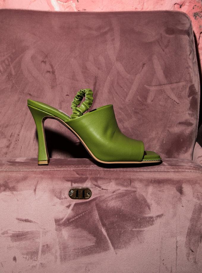 Кожаные мюли на каблуке SAYYA_SS1050, фото 1 - в интеренет магазине KAPSULA