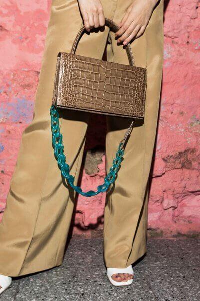 Кожаная сумка с пластиковой цепью SAYYA_SS1057, фото 1 - в интеренет магазине KAPSULA