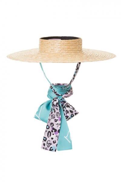 Шляпа канотье из соломы SAYYA_SS884-3, фото 1 - в интеренет магазине KAPSULA
