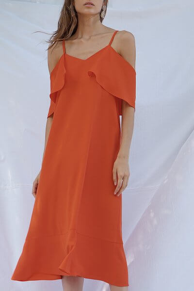 Платье на тонких бретелях SAYYA_SSL909, фото 9 - в интеренет магазине KAPSULA