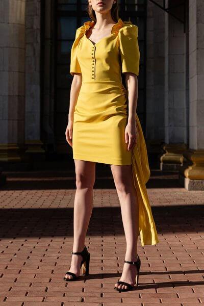 Платье мини из хлопка SKR_10118, фото 1 - в интеренет магазине KAPSULA