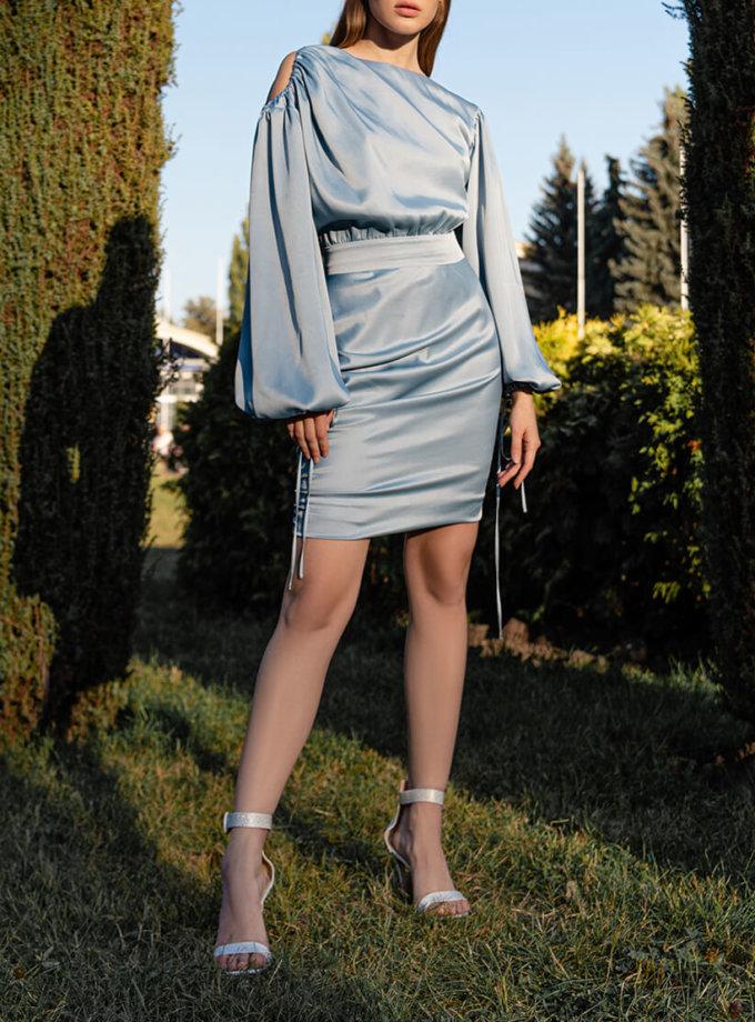 Шелковое платье мини SKR_10119, фото 1 - в интеренет магазине KAPSULA