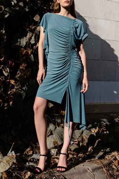 Платье с асимметричным низом SKR_10122, фото 1 - в интеренет магазине KAPSULA