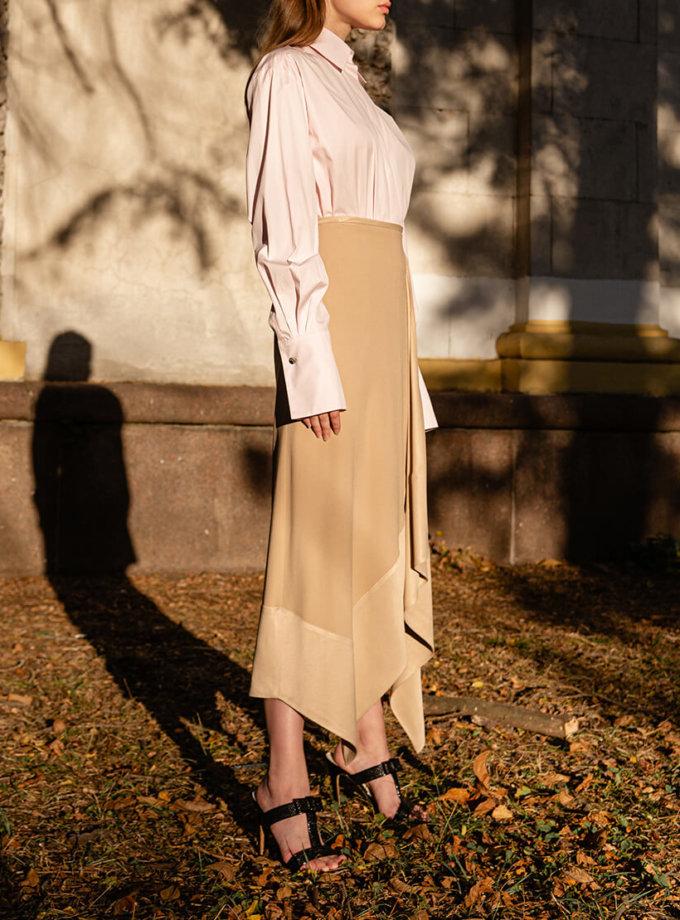 Асимметричная юбка из хлопка SKR_20044, фото 1 - в интеренет магазине KAPSULA
