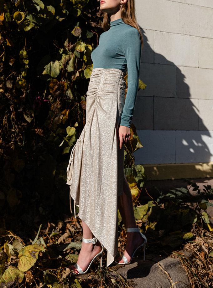 Асимметричная юбка с люрексом SKR_20046, фото 1 - в интеренет магазине KAPSULA