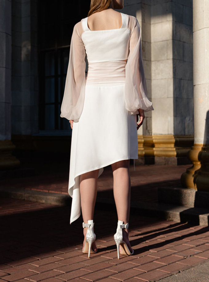 Асимметричная юбка из шелка SKR_20049, фото 1 - в интеренет магазине KAPSULA