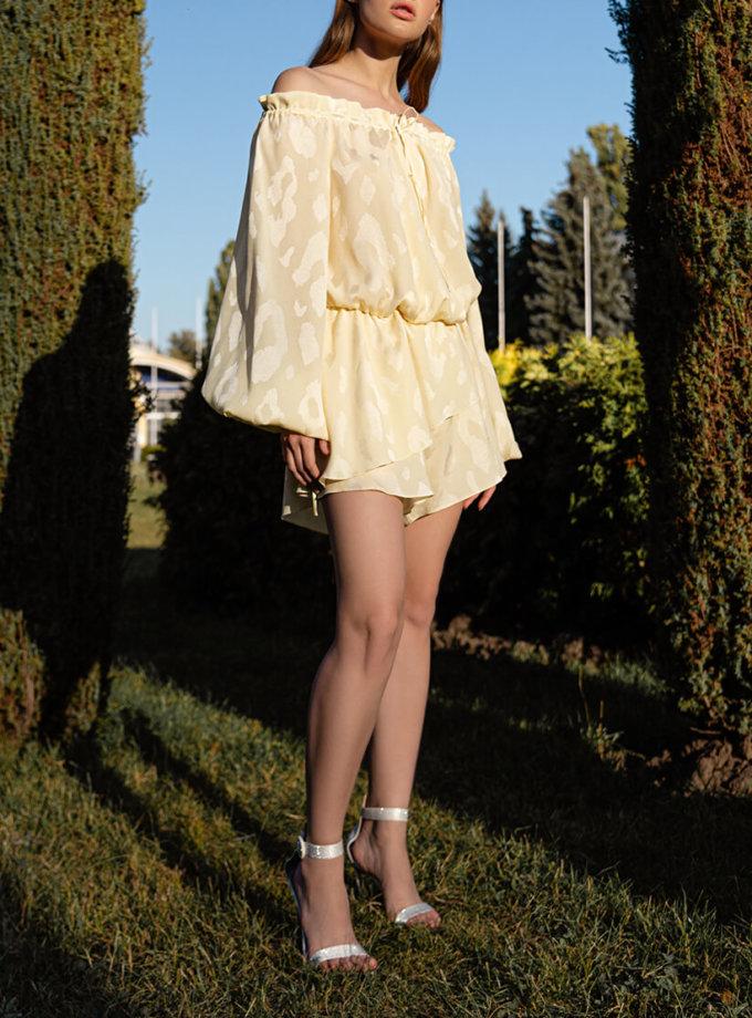 Комбинезон с шортами из шелка SKR_70005, фото 1 - в интеренет магазине KAPSULA