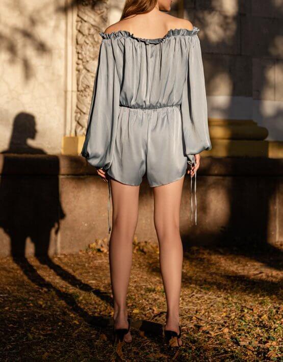 Комбинезон с шортами из шелка SKR_70006, фото 4 - в интеренет магазине KAPSULA