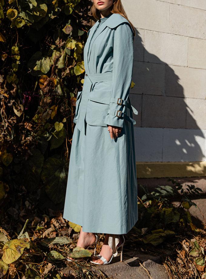 Тренч с накладными карманами и поясом SKR_80041, фото 1 - в интеренет магазине KAPSULA