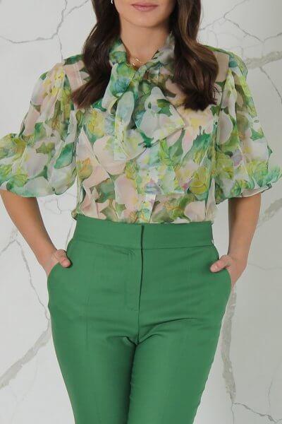 Шелковая блуза в принт SOL_SSS2020B09, фото 1 - в интеренет магазине KAPSULA