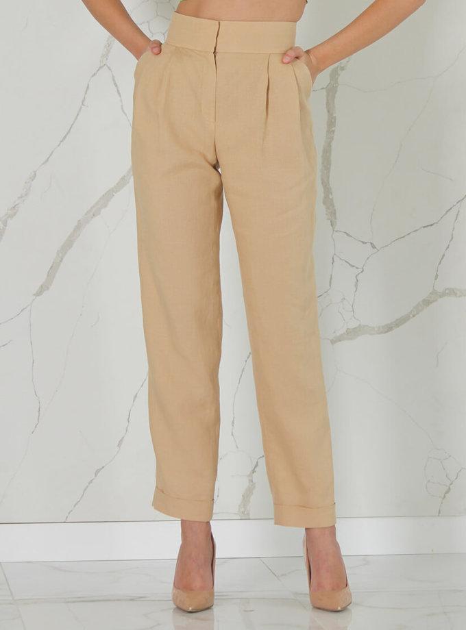 Прямые брюки из льна SOL_SSS2020T09, фото 1 - в интеренет магазине KAPSULA