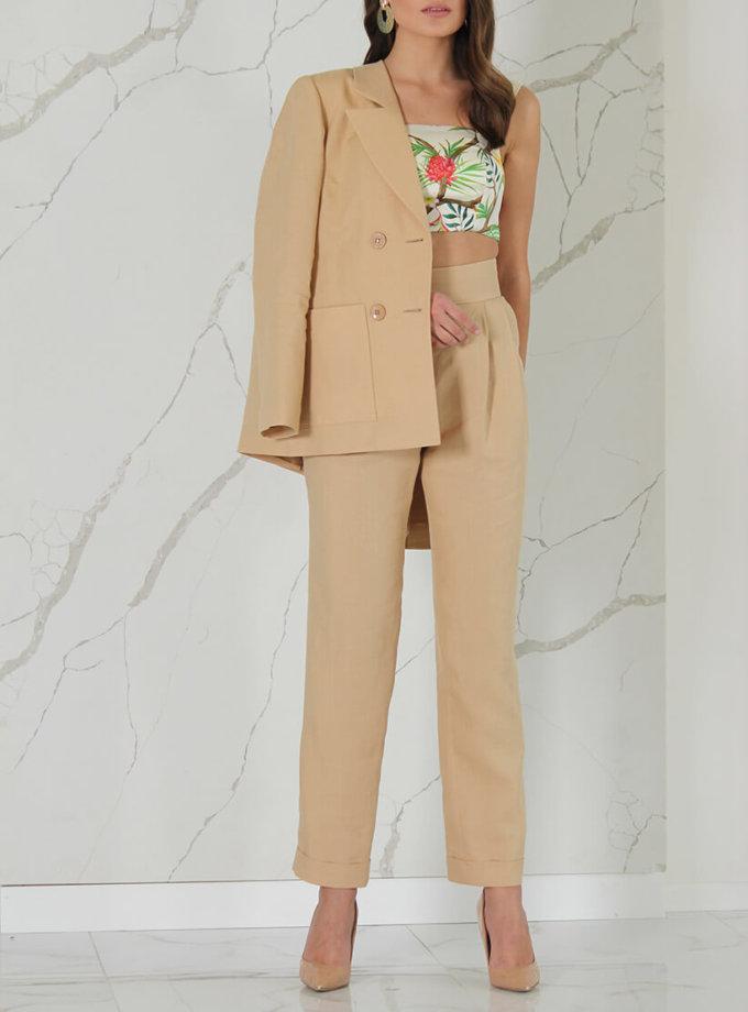 Прямые брюки из льна SOL_SSS2020T09, фото 1 - в интернет магазине KAPSULA