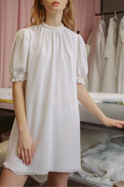 Шифоновое платье мини TTWH_s-s2001, фото 1 - в интеренет магазине KAPSULA