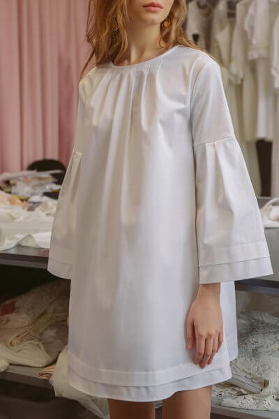 Платье мини из хлопка TTWH_s-s2002, фото 1 - в интеренет магазине KAPSULA