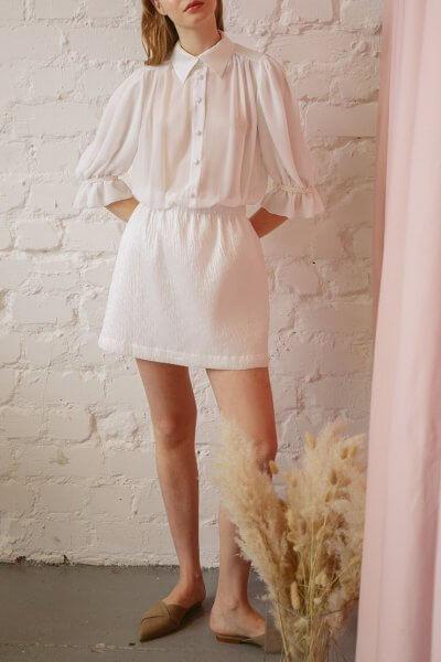 Платье с объемными рукавами TTWH_s-s2004, фото 1 - в интеренет магазине KAPSULA