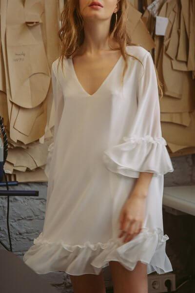 Платье oversize с воланами TTWH_s-s2006, фото 1 - в интеренет магазине KAPSULA