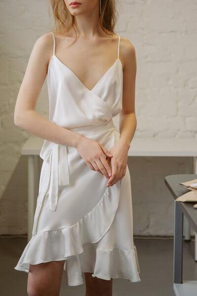 Платье на запахе TTWH_s-s2013, фото 1 - в интеренет магазине KAPSULA