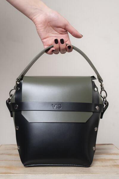 Кожаная сумка на молнии Adara VIS_Adara-zipper-001, фото 4 - в интеренет магазине KAPSULA