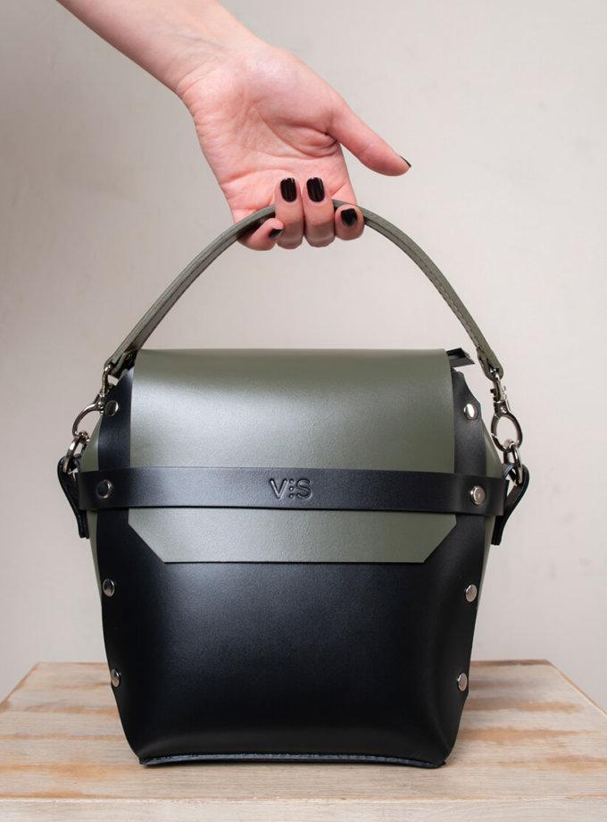 Кожаная сумка на молнии Adara VIS_Adara-zipper-001, фото 1 - в интеренет магазине KAPSULA