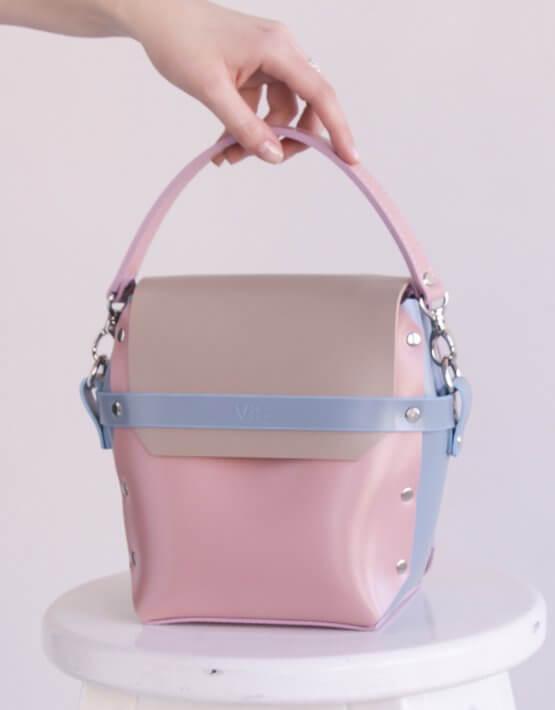 Кожаная сумка на молнии Adara VIS_Adara-zipper-002, фото 4 - в интеренет магазине KAPSULA
