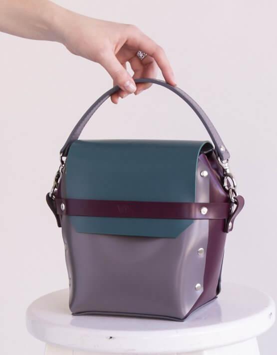 Кожаная сумка на молнии Adara VIS_Adara-zipper-003, фото 4 - в интеренет магазине KAPSULA