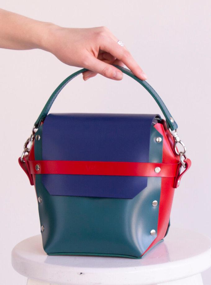 Кожаная сумка на молнии Adara VIS_Adara-zipper-004, фото 1 - в интеренет магазине KAPSULA
