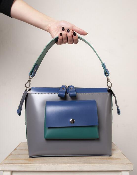Кожаная сумка Avrora VIS_Avrora-bag-001, фото 2 - в интеренет магазине KAPSULA
