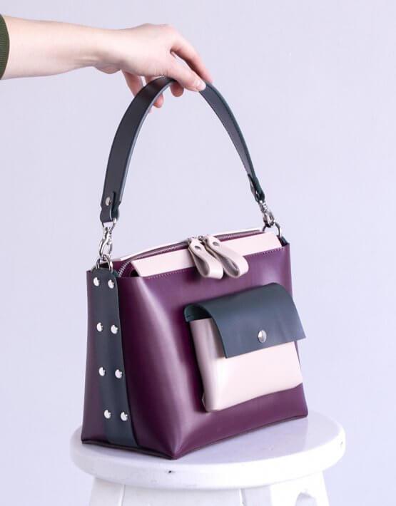 Кожаная сумка Avrora VIS_Avrora-bag-002, фото 4 - в интеренет магазине KAPSULA