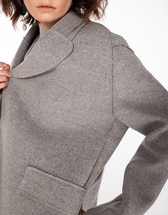 Пальто из шерсти без подклада WNDR_spr20_cgr02, фото 9 - в интеренет магазине KAPSULA
