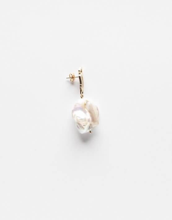 Серебряная серьга с жемчужиной YSB_CH_009lat, фото 3 - в интеренет магазине KAPSULA