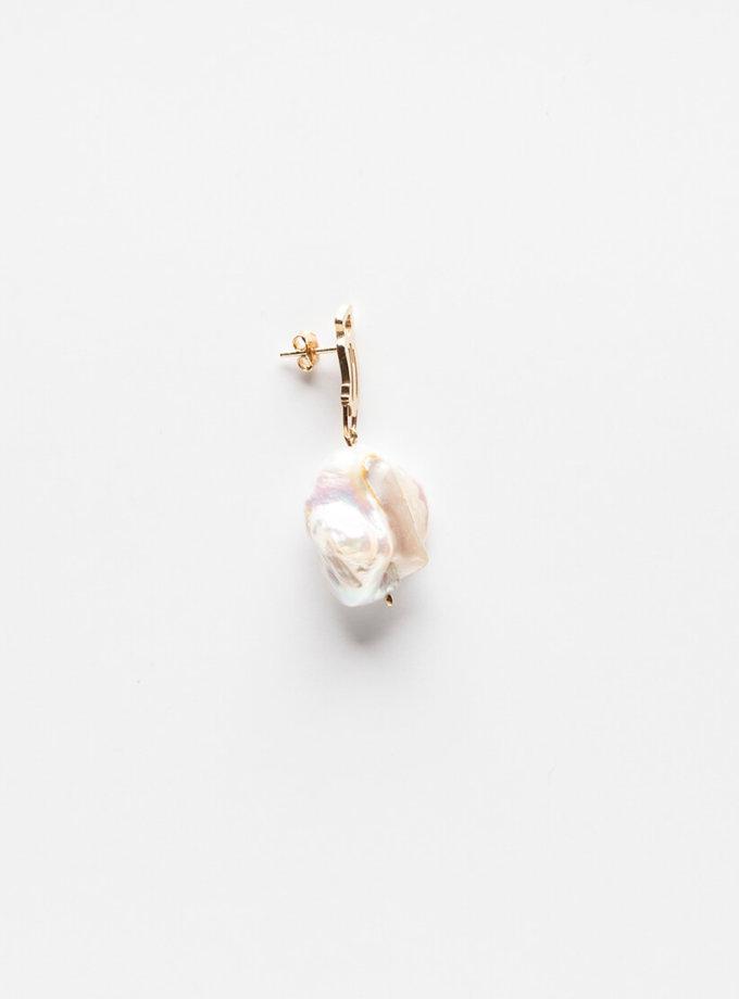 Серебряная серьга с жемчужиной YSB_CH_009lat, фото 1 - в интернет магазине KAPSULA