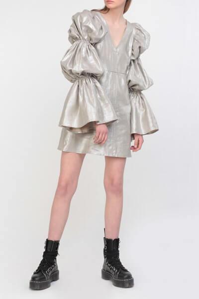 Серебристое платье из льна Gorgeous Victoria ZHPN_Victiria_1_Silver, фото 1 - в интеренет магазине KAPSULA
