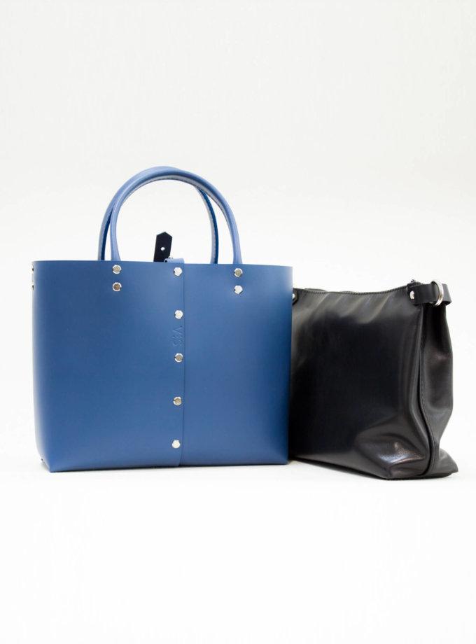 Кожаный шоппер Vega XL VIS_Vega:shopper-XL-002, фото 1 - в интернет магазине KAPSULA