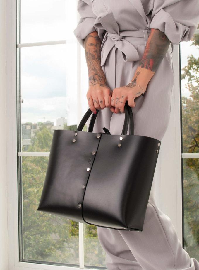 Кожаный шоппер Vega M VIS_Vega:shopper-М-001, фото 1 - в интернет магазине KAPSULA