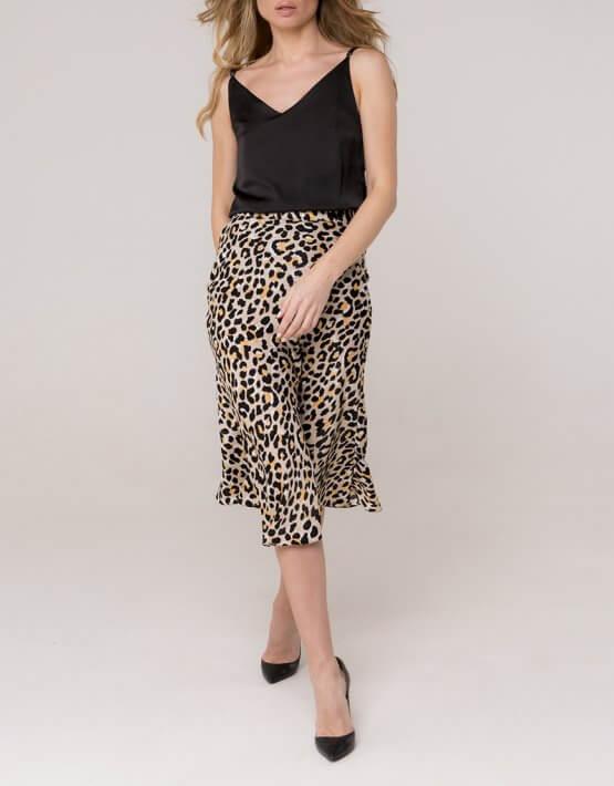 Шелковая юбка миди AD_030320, фото 4 - в интеренет магазине KAPSULA