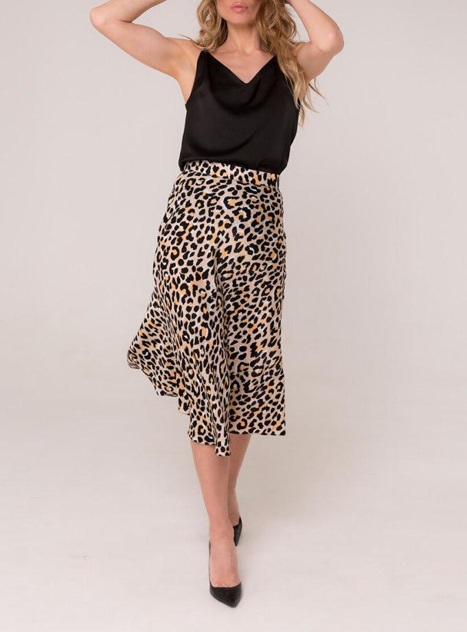 Шелковая юбка миди AD_030320, фото 1 - в интернет магазине KAPSULA