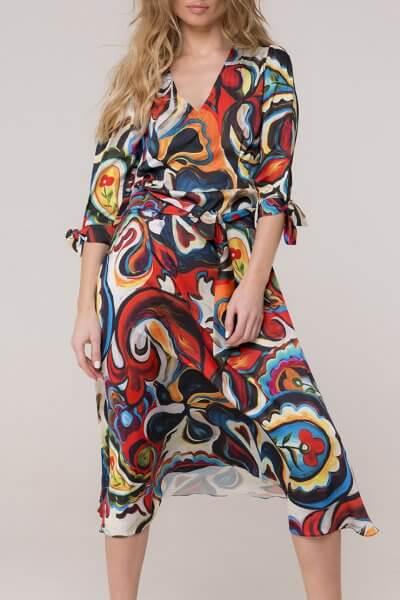 Шелковое платье с поясом AD_160320, фото 1 - в интеренет магазине KAPSULA