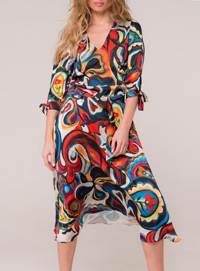 Шелковое платье с поясом AD_160320, фото 1 - в интернет магазине KAPSULA