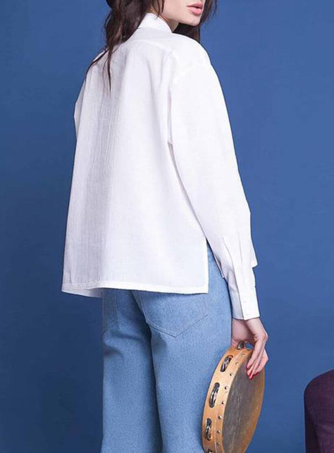 Хлопковая рубашка с накладными карманами AY_1586, фото 1 - в интернет магазине KAPSULA