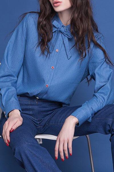 Легкая рубашка из денима AY_1588, фото 4 - в интеренет магазине KAPSULA