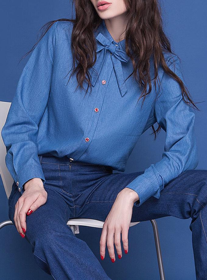 Легкая рубашка из денима AY_1588, фото 1 - в интеренет магазине KAPSULA