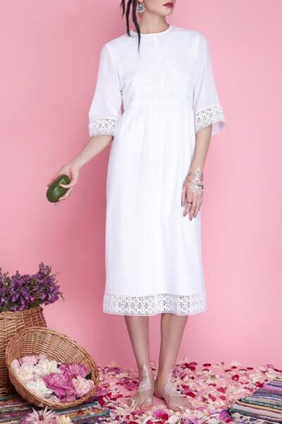 Хлопковое платье миди AY_1662, фото 4 - в интеренет магазине KAPSULA
