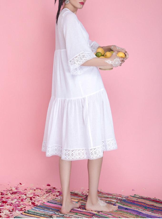 Хлопковое платье с кружевом AY_1664, фото 1 - в интернет магазине KAPSULA