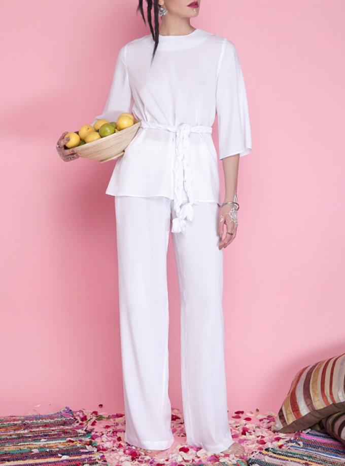 Легкие брюки на высокой посадке AY_1666, фото 1 - в интернет магазине KAPSULA