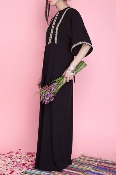 Платье макси с разрезом AY_1671, фото 5 - в интеренет магазине KAPSULA